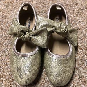 OshKosh Gold Ballerina Shoes, Size 11